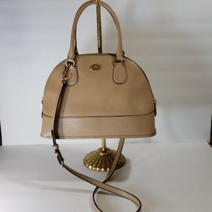 Coach Cora domed satchel tan f33909